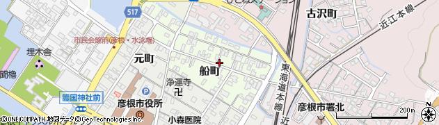 滋賀県彦根市船町周辺の地図
