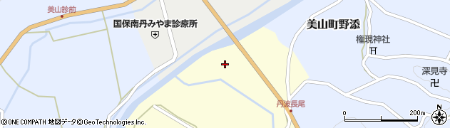 京都府南丹市美山町長尾(野崎)周辺の地図
