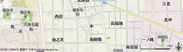 愛知県一宮市萩原町西宮重(南屋敷)周辺の地図