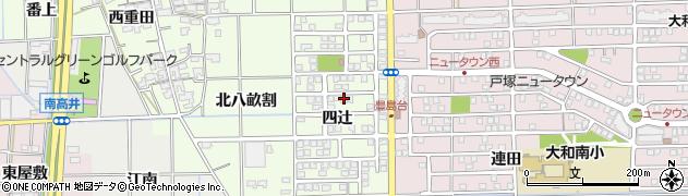 愛知県一宮市大和町北高井(四辻)周辺の地図