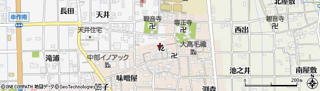 愛知県一宮市萩原町高木(乾)周辺の地図