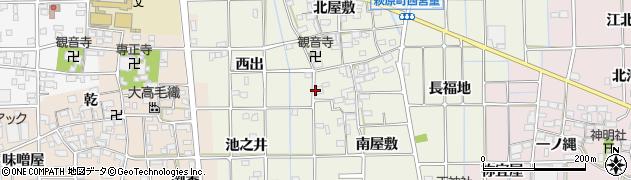 愛知県一宮市萩原町西宮重周辺の地図