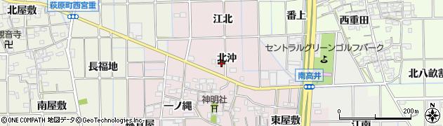 愛知県一宮市萩原町東宮重(北沖)周辺の地図