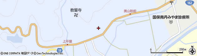 京都府南丹市美山町上平屋(盆徳)周辺の地図