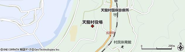 長野県天龍村(下伊那郡)周辺の地図