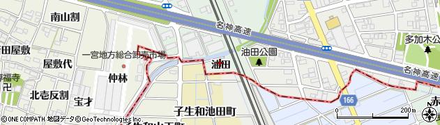 愛知県一宮市大和町妙興寺(油田)周辺の地図