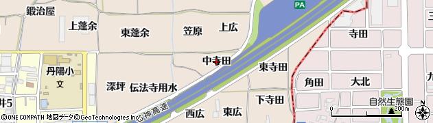 愛知県一宮市丹陽町三ツ井(中寺田)周辺の地図