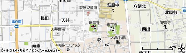 愛知県一宮市萩原町串作(河室浦)周辺の地図