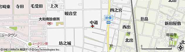 愛知県一宮市大和町於保(中道)周辺の地図