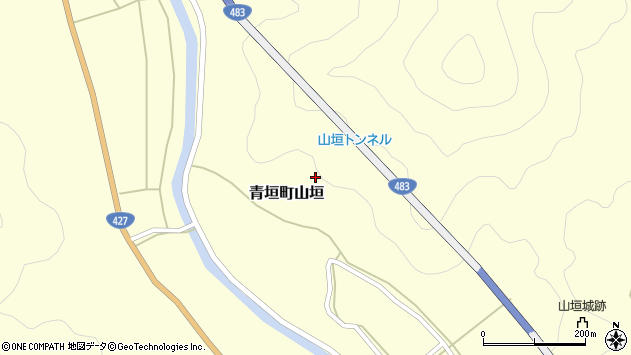 〒669-3833 兵庫県丹波市青垣町山垣の地図