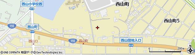 愛知県春日井市西山町周辺の地図
