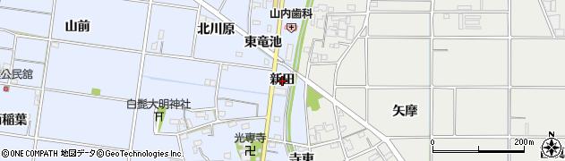 愛知県一宮市上祖父江(新田)周辺の地図