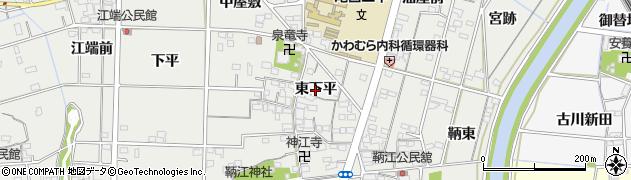 愛知県一宮市明地(東下平)周辺の地図