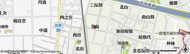 愛知県一宮市大和町氏永(丑畠)周辺の地図
