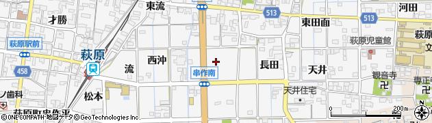 愛知県一宮市萩原町串作(前田面)周辺の地図