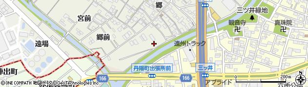 愛知県一宮市丹陽町外崎(下川田)周辺の地図