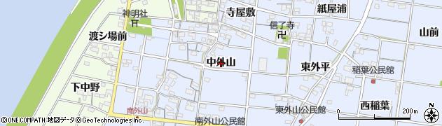 愛知県一宮市上祖父江(中外山)周辺の地図