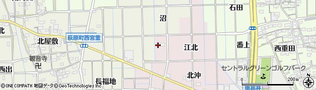 愛知県一宮市萩原町東宮重(江北)周辺の地図