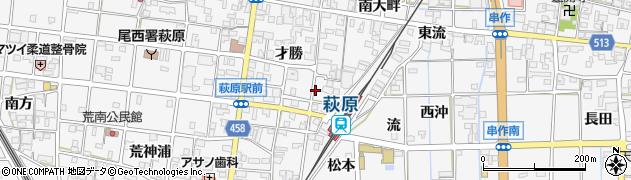 愛知県一宮市萩原町串作(荒神田面)周辺の地図