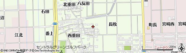 愛知県一宮市大和町北高井(長牧)周辺の地図