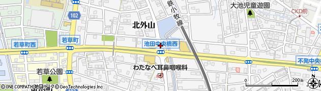 愛知県小牧市北外山周辺の地図
