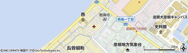 滋賀県彦根市長曽根町周辺の地図