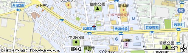 愛知県小牧市郷中周辺の地図