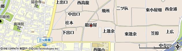 愛知県一宮市丹陽町三ツ井(鍛治屋)周辺の地図
