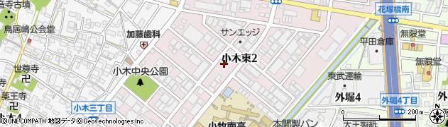 愛知県小牧市小木東周辺の地図