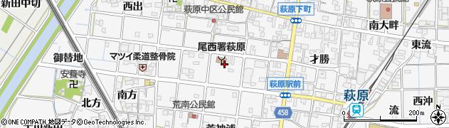 愛知県一宮市萩原町串作(水絶)周辺の地図