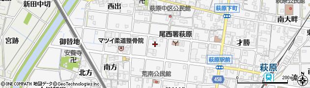愛知県一宮市萩原町串作(天神)周辺の地図