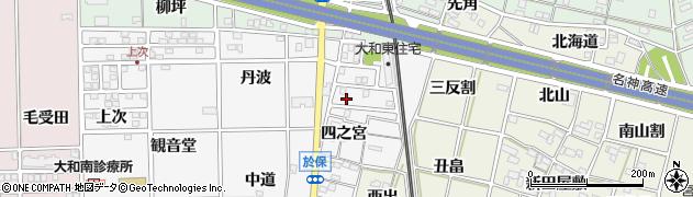 愛知県一宮市大和町於保(四之宮)周辺の地図