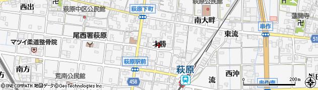 愛知県一宮市萩原町串作(才勝)周辺の地図