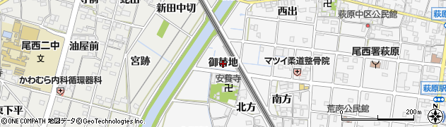 愛知県一宮市萩原町串作(御替地)周辺の地図