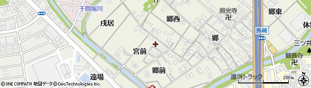 愛知県一宮市丹陽町外崎(宮前)周辺の地図