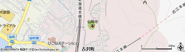 仙琳寺周辺の地図