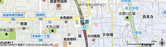 愛知県岩倉市周辺の地図