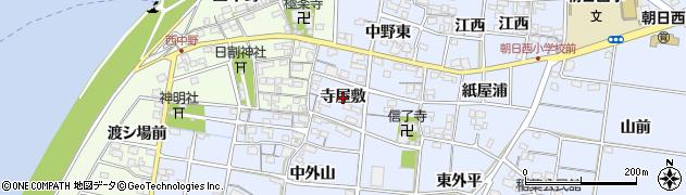 愛知県一宮市上祖父江(寺屋敷)周辺の地図