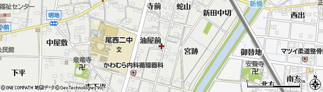 愛知県一宮市明地(宮浦)周辺の地図