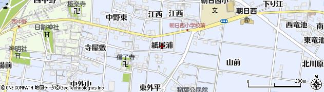 愛知県一宮市上祖父江(紙屋浦)周辺の地図