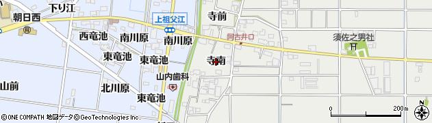 愛知県一宮市明地(寺南)周辺の地図
