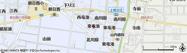 愛知県一宮市上祖父江(東竜池)周辺の地図