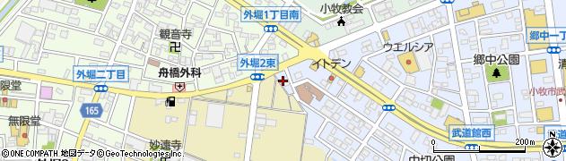 月兎 小牧店周辺の地図