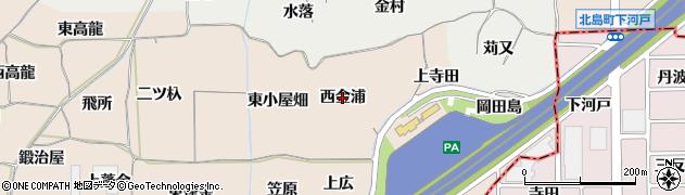 愛知県一宮市丹陽町三ツ井(西金浦)周辺の地図