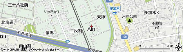 愛知県一宮市大和町妙興寺(八町)周辺の地図