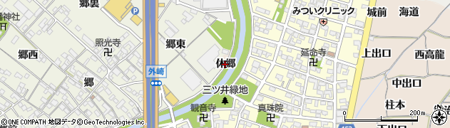 愛知県一宮市丹陽町三ツ井(休郷)周辺の地図