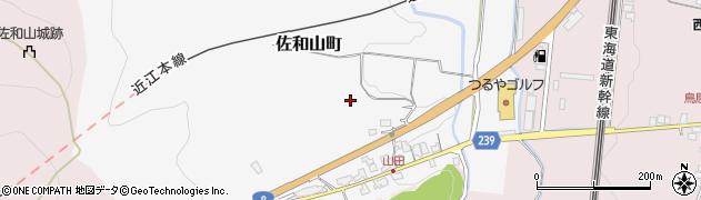滋賀県彦根市佐和山町周辺の地図