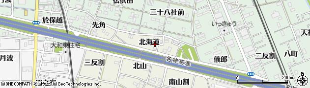 愛知県一宮市大和町氏永(北海道)周辺の地図