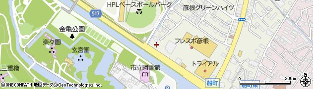 彦根警察宿舎周辺の地図