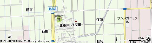 愛知県一宮市大和町北高井(八反田)周辺の地図